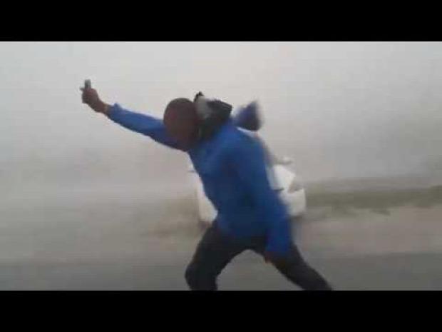 meteorológus hurrikán szél