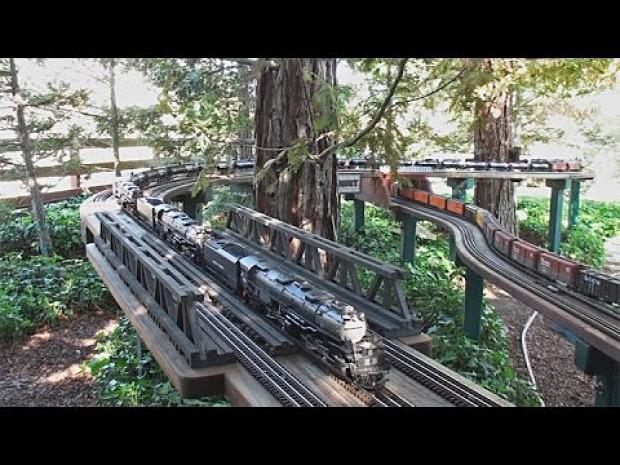 vasút makett legnagyobb kültéri