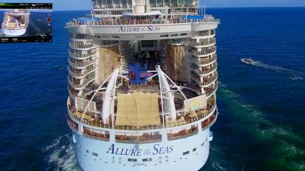 drón óceánjáró Allure of the seas közvetítés