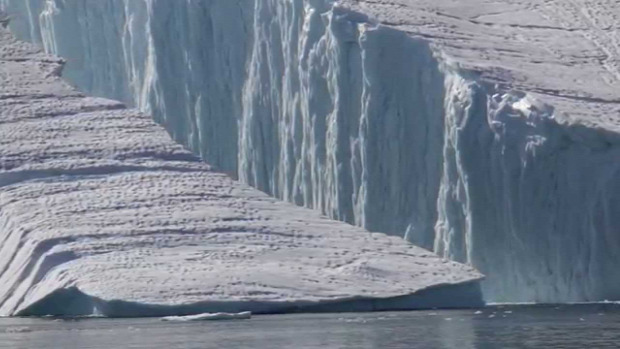 Grönland jéghegy törés osztódás