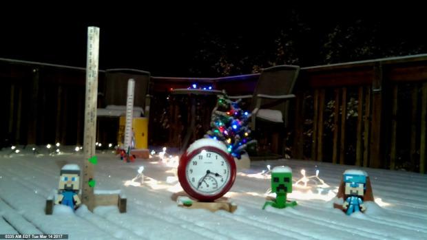USA hó vihar Time Lapse