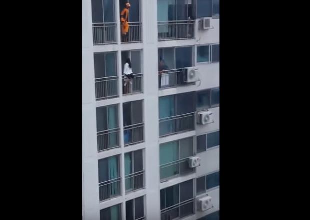 öngyilkos tűzoltó mentés ugrás