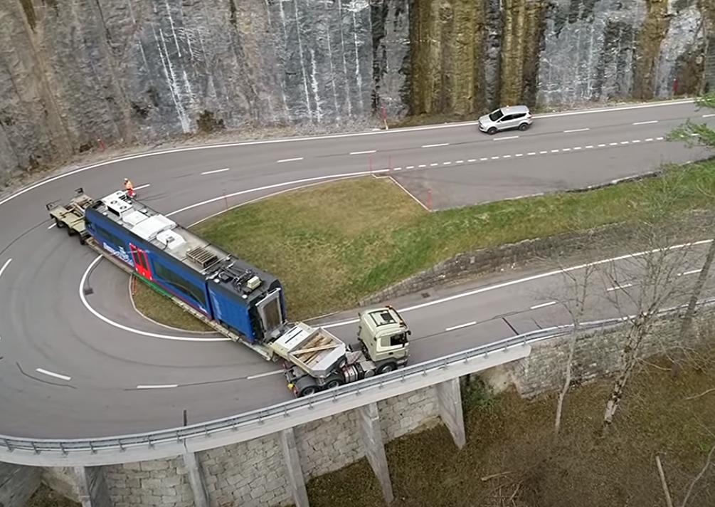 szállítás közút Svájc extrém motorvonat