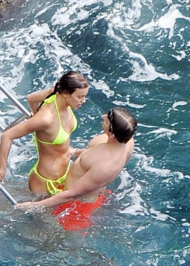 Irina Shayk in Yellow Bikini -05