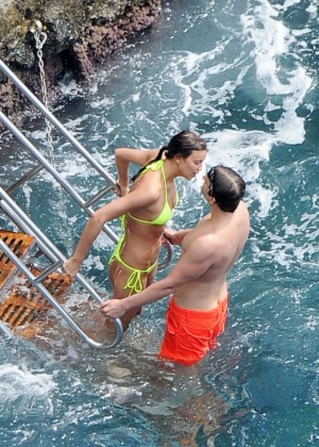 Irina Shayk in Yellow Bikini -32